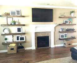 floating shelves around fireplace bookcases next to introduction how build a best for ideas on bookshelves floating shelves stone fireplace