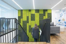 green office interior. Rocky Mountaineer Head Office Green Interior