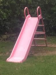 Large Girls Pink Outdoor Slide 10 00 Picclick Uk