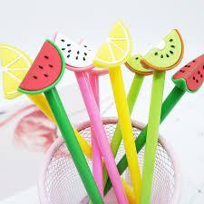 <b>4pcs</b>/ <b>lot Creative</b> Watermelon fruit neutral pen stationery <b>kawaii</b> ...