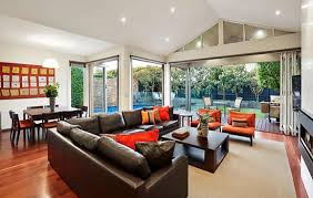 How To Furnish A Rectangular Room Realestateau Custom Decorating Rectangular Living Room Exterior