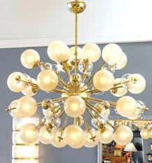 sputnik chandelier vintage brass with champagne globes at regarding brilliant residence prepare ch