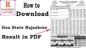 Rajshree Result Chart How To Download Goa Rajshree Lottery Result On Computer In Pdf