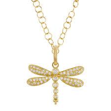 diamond dragonfly pendant