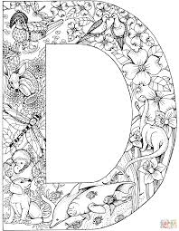 Small Picture Letter D with Animals coloring page Free Printable Coloring Pages