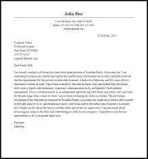 Professional Real Estate Agent Cover Letter Sample Writing Guide