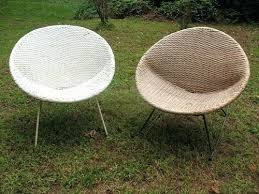 Mid Century Modern Patio Furniture Wicker Chairs Metal