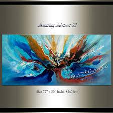 original blue ocean abstract painting