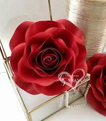 Rose Paper Flower Making Pdf Mini Rose Template 7 Diy Paper Roses Paper Flowers Rose Template Digital File