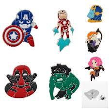 Коллекция Мстителей, броши, эмалированная булавка, значок ...