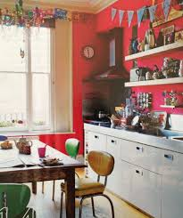 Retro Red Kitchen Red Kitchen Open Shelves I Think This Might Be India Knights