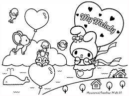 My-Melody-Free-Printable-Kids-Coloring-Pages | Cute Kawaii Resources