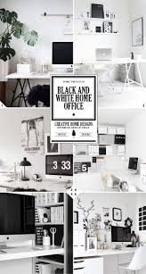 black and white home office. The 3 Steps To Creating A Black And White Home Office Design