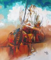 sajida hussain stani fine artist of national international repute from abad stan for original oil paintings horses figurative stani art