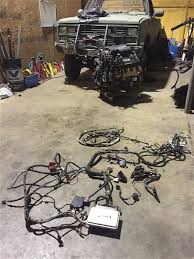 swapping an 8 1l big block in a 1973 1991 square body chevy pickup 03 chevy 8 1l big block swap in 1986 chevy wiring harness removed photo 224421353