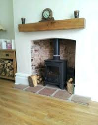 floating shelf above fireplace solid oak beams floating shelf mantle piece fire place surround in home