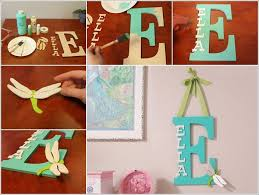 make a kids room monogram from wooden letters wooden letters design