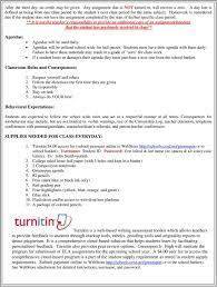 Class Agendas Greenspun Junior High School Teacher Course Expectation Sheet Pdf