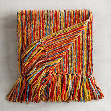 chenille streamers striped throw  streamers