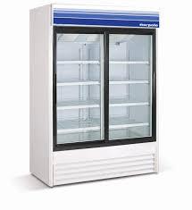 2 door glass door refrigerator