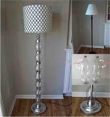 gorgeous budget standing floor lamp using plastic bottles lamp diy pipe lamp parts