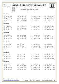 pretty solving addition and subtraction equations worksheet