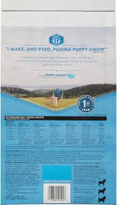 Purina Puppy Feeding Chart Puppy Chow Complete Chicken Flavor Dry Dog Food 4 4 Lb Bag
