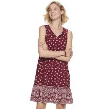 Womens Sonoma Goods For Life Sleeveless Peasant Dress In
