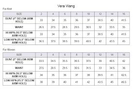 Vera Wang Bridal Size Chart Vera Wang Wedding Dress Size Chart Wedding Ideas