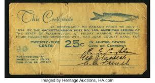 Friday Harbor Wa Hackett Larson Post 165 American Legion 25 Lot