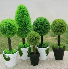 5 Styles Idyllic Decorative Potted Plants Artificial Fake Grass Decorative Plants For Home