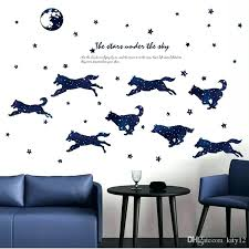 wall stickers for home decor stickers hot animals decor wallpaper art decals wolf star