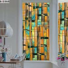 stained glass stickers stained glass art printing static window stickers opaque frosted door tint window privacy