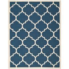 safavieh courtyard navy beige 8 ft x 11 ft indoor outdoor area rug cy6914 268 8 the home depot