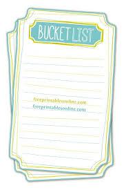 Bucket List Printable Template Pin On Printables