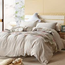 image of beige plaid duvet covers