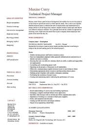 Manager Responsibilities Resume Technical Project Manager Resume Example Job Description Skill