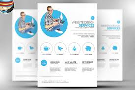computer service flyer template photos graphics fonts themes minimal web design flyer template
