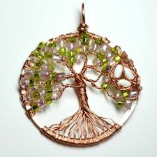 wire wrapped tree of life pendant made