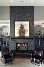 grey stone fireplace sofa and decor