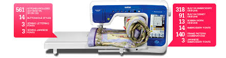 Home Sewing and Embroidery Machines |Brother DreamWeaver™ XE & ... Machine (QUILTING, SEWING & EMBROIDERY. 561 Stitches Included (531  Built-in, 30 on CD); 14 Buttonholes ... Adamdwight.com