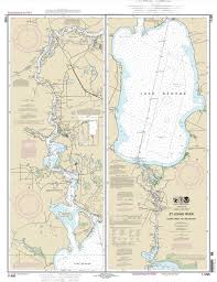 2013 Map Of St Johns River Lake George Florida In 2019