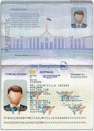Us Passport Template Psd Australia Passport Template Psd V1