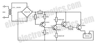 car battery charger circuit schematic