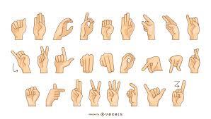 Sign Language Alphabet Vector Chart Vector Download