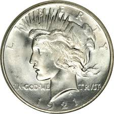 1921 High Relief Peace Silver Dollar Coin Value Facts