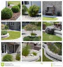 Small Picture Garden Design Photo Collage Royalty Free Stock Photography Image