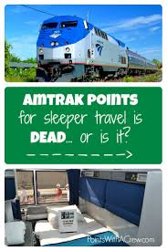 is using amtrak points for sleeper car travel pletely or are there still actually