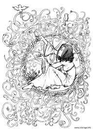 Coloriage Adulte Zen Anti Stress A Imprimer Princesse Enfermee Dessin
