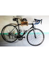 Simplistic Wood Bike Rack Bike Shelf, Road Bike Wall Mount, Modern  Minimalist Simple Bike